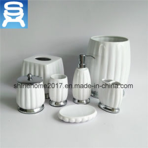 Wholesale Hotel 7PCS Soap Dispenser, Soap Dish, Tbh Ceramic Bathroom Set pictures & photos
