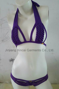 80%Nylon 20%Spandex Sexy Hand Makeing Bikini pictures & photos