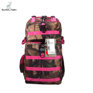 Great Pink Camo Water Resistant Camping Hiking Hunting Backpack pictures & photos