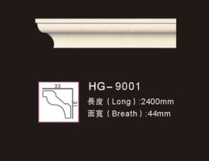Hg9001 Home Interior Decoration PU Crown Moulding pictures & photos