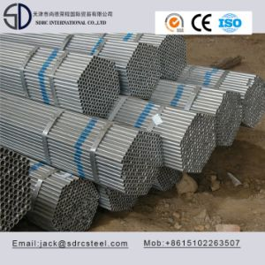 Thin Wall Galvanized Round Steel Tube for Steel Furniture pictures & photos