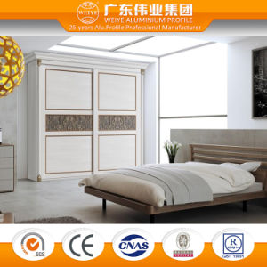 Customized Wood Grain Sliding Bedroom Wardrobe Door pictures & photos