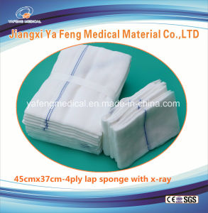 Non Sterile Lap Sponge with X-ray 45cmx37cm-4ply/6ply pictures & photos