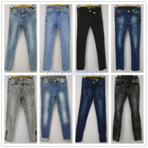 Grey Skinny Jeans with Zippers for Girls (121-G307) pictures & photos