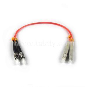 Sc/LC/St Mutilmode 62.5/125um Duplex Fiber Optic Patch Cord pictures & photos