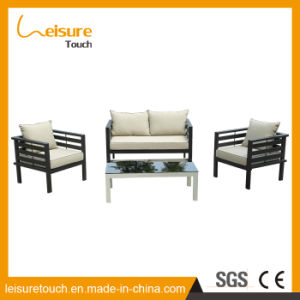 China Made Metal Outdoor Garden Patio Furniture Brushed Poly Wood Wiredrawing Aluminum Cloth Art Sofa Set pictures & photos