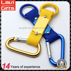 Promotional Custom Polyester Carabiner Lanyard Keychain pictures & photos