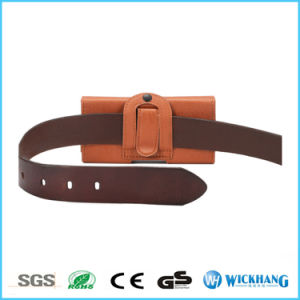 Brown Horizontal Leather Waist Belt Clip Holster Phone Case pictures & photos