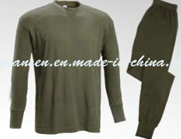 Winter Underwear Suit Thermal in Oliva Green with Simple Design pictures & photos