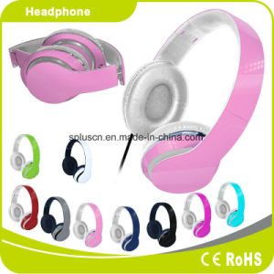 Pink Colorful Customized Logo Perfect Sound Effect Music Headphone pictures & photos
