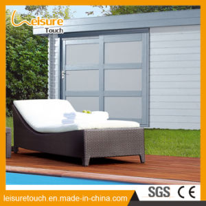 Outdoor Garden Pool Furniture Rooftop Balcony Rattan/Wicker Deck Chair Lounge Lying Bed Daybed Sunbed pictures & photos