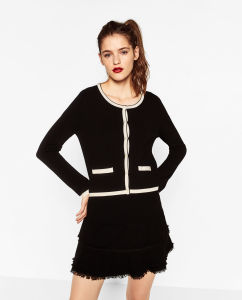 Fashioned Women Knitting Cardigan pictures & photos