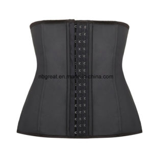Classical Strapless Corset Black Sexy Tranning Corset pictures & photos