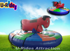 outdoor inflatable bounce castle redeo bull, inflatable rocking bull pictures & photos
