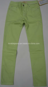 7.2oz Pale Green Stretchy Pants (HY2582-10BP#) pictures & photos
