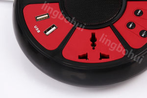 Functional Electrical Socket Stereo Portable Mini Loud Speaker with 4 USB pictures & photos
