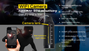 Mini WiFi Camera IP HD Len Night Vision in Kettle pictures & photos
