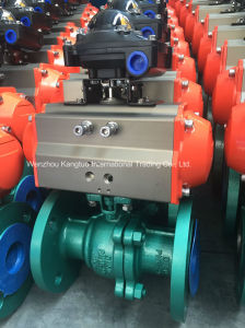 Flanged Ball Valve with Pneumatic Actuator pictures & photos