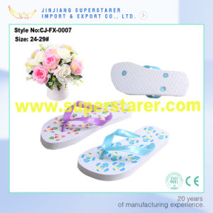 New Arrival Colorful Printed PE Sole Kids Flip Flop pictures & photos