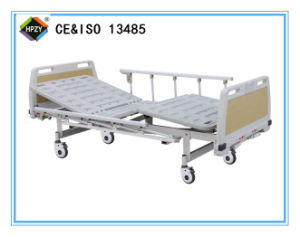 (A-71) Movable Double-Function Manual Hospital Bed with ABS Bed Head
