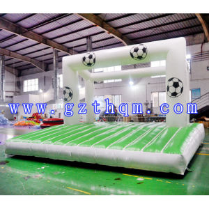 Inflatable Water Football Field Inflatable Soap Soccer Field Inflatable Soccr Pitch Inflatable Football Pitch pictures & photos