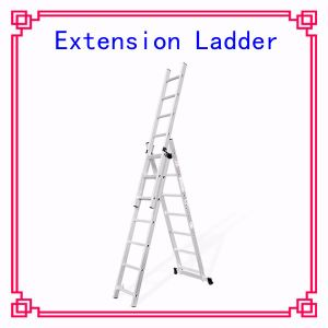 Aluminium Extension Step Ladder Roof Rope Extension Ladder pictures & photos