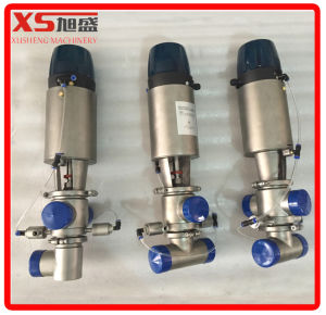 101.6mm Stainless Steel Ss304 Sanitary SMP-Bc Mixproof Valves with Remote-Controlled Head pictures & photos