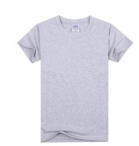 Solid Color Round Neck Short Sleeve Men′s T-Shirt pictures & photos