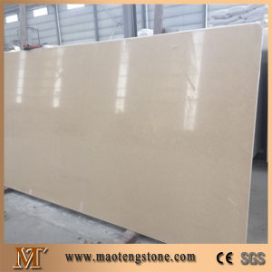 Cream Beige Engineered Quartz Slab pictures & photos