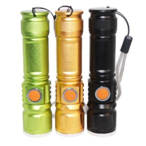 1000lm 3 Mode Outsdoor Riding Bike Torch USB Rehcrageable CREE T6 10W Zoom Flashlight pictures & photos
