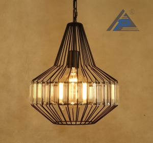 Metal Frame Pendant Light with Crystal Decorative (C5006151) pictures & photos