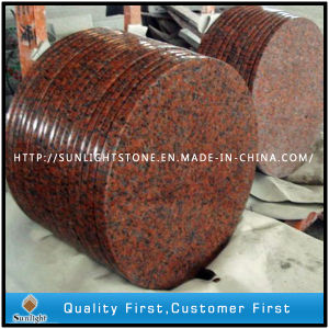 Polished Natural G562 Maple Red Granite Stone Round Dining Table Top pictures & photos