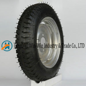 Wear-Resistant Rubber Wheel Used on Mobiity Equipments (4.00-12) pictures & photos