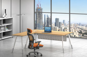 White Customized Metal Steel Office Executive Table Frame Ht77-2 pictures & photos