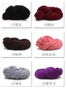 DIY Handmade Hand Knit Blanket Rug Super Chunky Wool Yarn pictures & photos