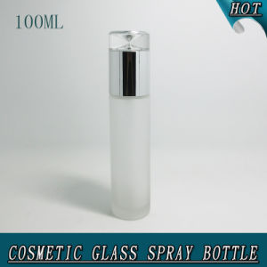 100ml Luxury Acrylic Lid Frosted Glass Airless Pump Bottle pictures & photos