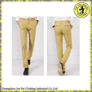 Custom Men Slim Fit Trousers Straight Pants pictures & photos