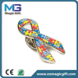 Hot Sales Special Puzzle Ribbon Metal Pin pictures & photos