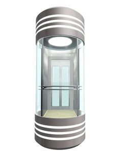 Sightseeing Elevator with Hairline Stainless Steel Door pictures & photos