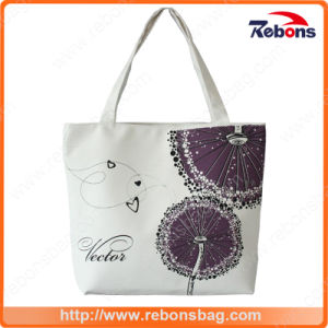 Custom Print Cotton Fashion Canvas Woman Handbags Plain Handbag pictures & photos