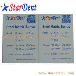 Dental Steel Matrix Bands of Hospital Medical Lab Surgical Diagnostic Equipment pictures & photos