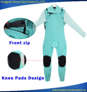 Customized 3mm Neoprene Super Aqua Stretch Fabric Full Surfingsuit