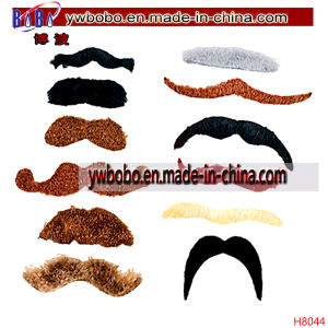 Halloween Mustache Assortment Novelty Christmas Ornament (H8044) pictures & photos