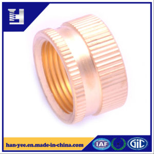 Brass Knurling Pipe Connector with Thread pictures & photos