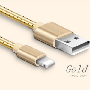 Metal Tube Charger&Transfer Data for iPhone USB Cable pictures & photos