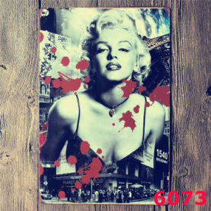 Outdoor Decorations 20*30cm Marilyn Monroe Tinplate pictures & photos