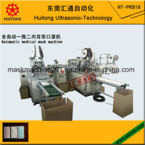 Automatic Ultrasonic Non Woven Medical Face Mask Making Machine of 2 Inner Earloop Machine pictures & photos