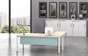 White Customized Metal Steel Office Executive Desk Frame with Ht05-2 pictures & photos