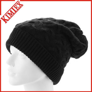 Lady′s Fashion Acrylic Crochet Knit Pattern Cable Beanie pictures & photos