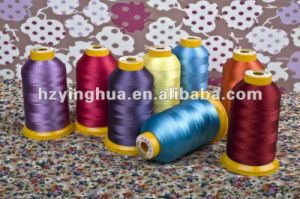 Eco-Friendly 100% Viscose Monofilament Embroidery Thread pictures & photos